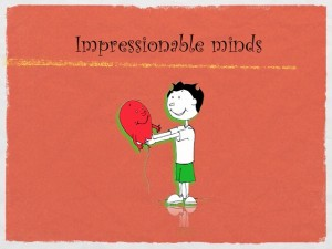 Impressionable minds Boy and Red Balloon by Kaveh Adel