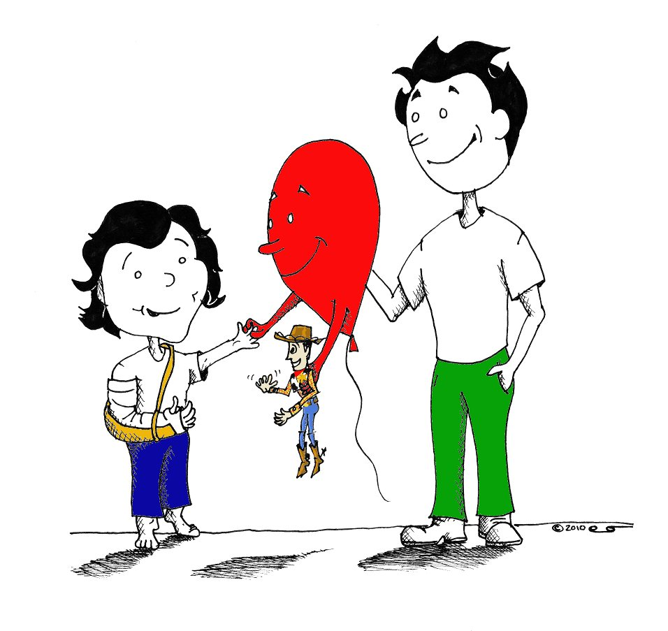 Little Boy's Broken arm & Red Balloon copyright 2011 Kaveh Adel